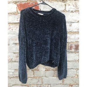 PacSun L.A. Hearts Cozy Navy Sweater